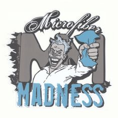 Microfiber Madness Logo Sticker