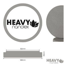 Nanolex Polishing Pad 145x25x125, Hard, Grey